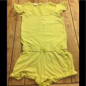 Zara Girls | Romper Shorts | 8 | Bright Yellow